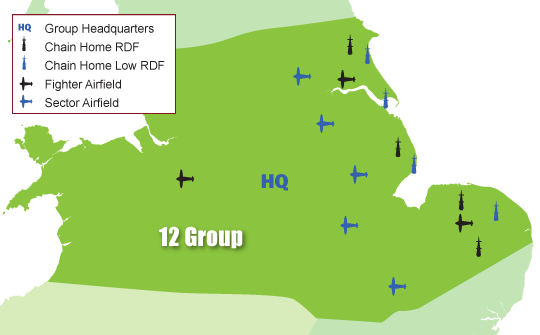 Area of 12 Group of Fighter Command
