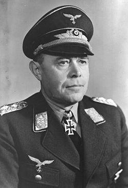 Field Marshal Albert Kesselring of Luftflotte 1.