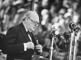 Churchill's makes his aims clear.