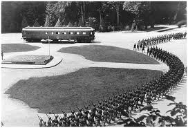 The French surrender to Hitler