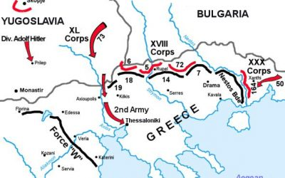 Map of Operation Marita